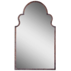 "40.75""H x 24.25""W Arched Metal Frame Mirror, 90026"