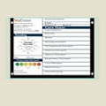 "Single Glass Patient Board with Square Corners - 36""W x 24""H, 80628"