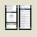 "Double Glass Patient Board with Square Corners - 30.6""W x 26""H, 80615"