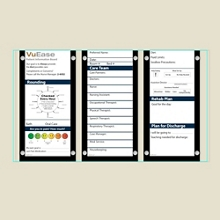 "Triple Glass Patient Board with Square Corners - 45.2""W x 26""H, 80617"