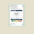 "Single Glass Patient Board with Radius Corners - 18""W x 24""H, 80625"