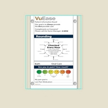 """Single Glass Patient Board with Square Corners - 18""""W x 24""""H, 80624"""