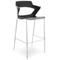 Four Leg Polypropylene Stool with Wing Arms, 44025