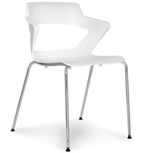 Four Leg Polypropylene Stack Chair with Wing Arms, 50038
