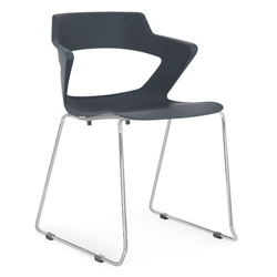 Sled Base Polypropylene Stack Chair with Wing Arms, 50039