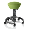 Swopper Multi-Motion Fabric Spring Stool with Casters, 50889