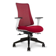 Mesh Back Task Chair with White Frame, 50894