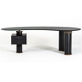 "Glass Top Asymmetrical Executive Desk - 95""W x 35""D, 14343"