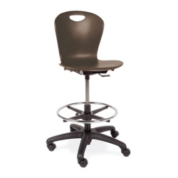 Adjustable Height Lab Stool With Casters, 50026