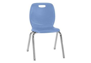 "Polypropylene 16""H Classroom Stack Chair, 51597"