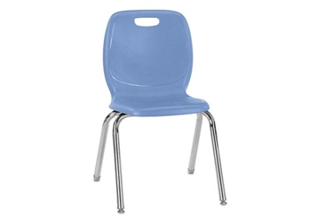 "Polypropylene 18""H Classroom Stack Chair, 51598"