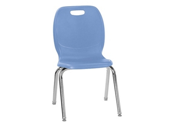 "Polypropylene 18""H Large Seat Classroom Stack Chair, 51599"