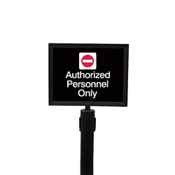 """Satin Chrome Sign Frame for Crowd Control Post-  8.5""""W x 11""""H, 87974"""