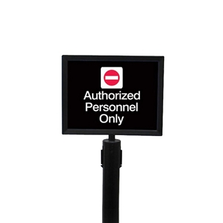"Black Sign Frame for Crowd Control Post-  8.5""W x 11""H, 87972"