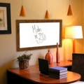 "54""W x 54""H Decorative Wood Framed Whiteboard , 80589"
