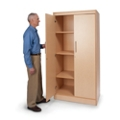 "Four Shelf Storage Cabinet - 72""H, 36702"