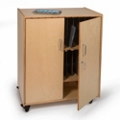 "Mobile Tablet Storage Cabinet - 28""W, 36701"