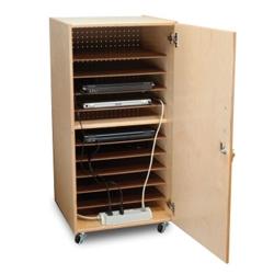 "Mobile Ten Slot Laptop Storage Cabinet- 41""H, 43397"