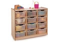 Storage Cabinet with 12 Clear Trays, 36832