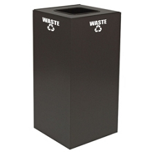 Square Top Metal Recycling Container - 24 Gallon, 91101