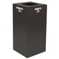 Square Top Metal Recycling Container - 32 Gallon, 91103