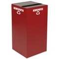 Slot Top Metal Recycling Container - 32 Gallon, 91106