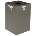 Round Top Metal Recycling Container - 24 Gallon, 91107