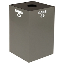 Round Top Metal Recycling Container - 28 Gallon, 91108