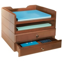 Set of Two Letter Trays & Two Stacking Drawers, 91262