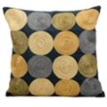 "kathy ireland by Nourison Circle Pattern Square Accent Pillow - 18""W x 18""H, 82171"