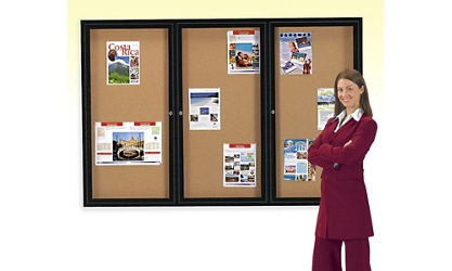 Enclosed 2-Door Bulletin Board 36x60, 80732