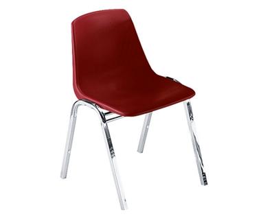 Armless Polypropylene Stack Chair with Chrome Frame, 44197