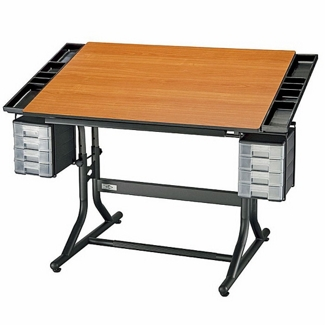 Height Adjustable Deluxe Drafting Table, 70197