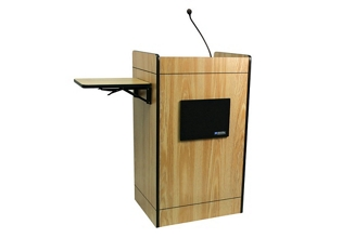 Podium with Gooseneck Microphone, 43305