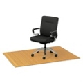 "Eco-Friendly Bamboo Wood Chair Mat - 48"" x 72"" x 5mm Thick, 54237"