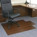 """Eco-Friendly Bamboo Wood Chair Mat with Lip - 44"""" x 52"""" x 5mm Thick, 54239"""