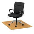 """Eco-Friendly Bamboo Wood Chair Mat - 48"""" x 42"""" x 5mm Thick, 54243"""