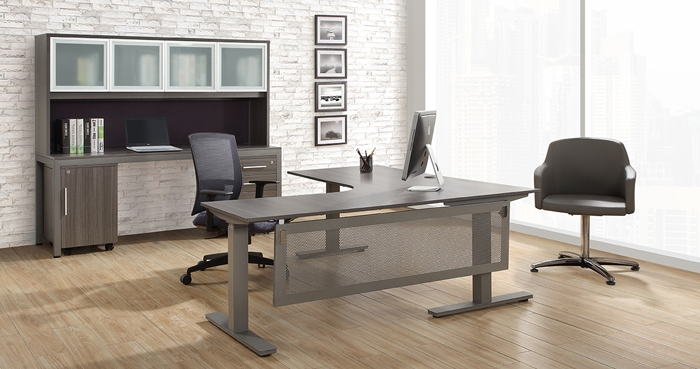at work gray office furniture