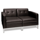 Wall Street Reception Area Loveseat, CD00813