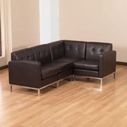 Faux Leather L-Sofa, 75353