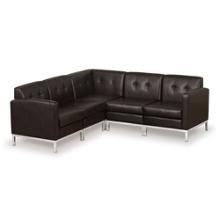 Faux Leather Corner Sofa, 75424