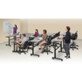 Set of 7 Adjustable Height Training Tables, 41844