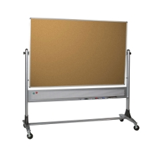 6' x 4' Reversible Porcelain Whiteboard and Cork Board, 80257