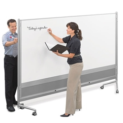 8'W x 6'H Dual Sided Mobile Whiteboard, 80290