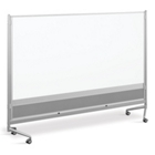 8'W x 6'H Dual Sided Mobile Whiteboard/Corkboard, 80291