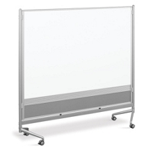 6'W x 6'H Dual Sided Mobile Whiteboard, 80292