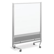 4'W x 6'H Dual Sided Mobile Whiteboard/Corkboard, 80295