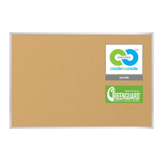 4'W x 4'H Eco-Friendly Cork Board, 80303