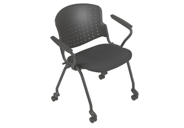 Nesting Stack Chair with Upholstered Seat and Arms, 51108