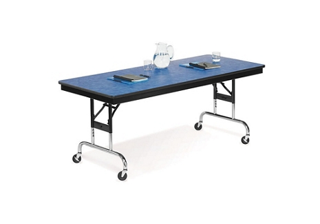 "Height Adjustable Mobile Folding Table- 30""Wx96""D, 41062"